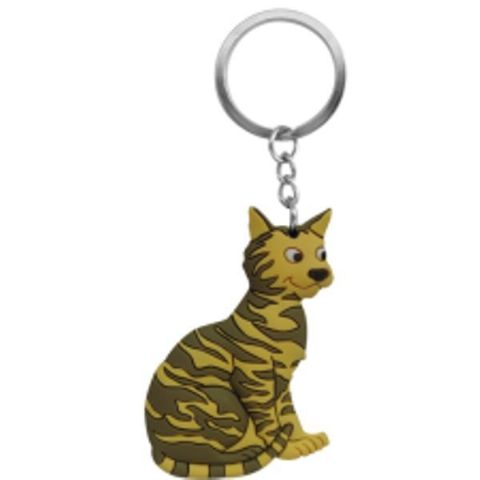 Tabby Cat Flexible Keyring